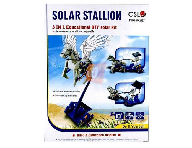 Stavebnice modelu okřídleného hřebce na solární pohon 1