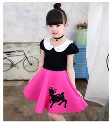 Dívčí šaty s áčkovou sukní - 14 variant