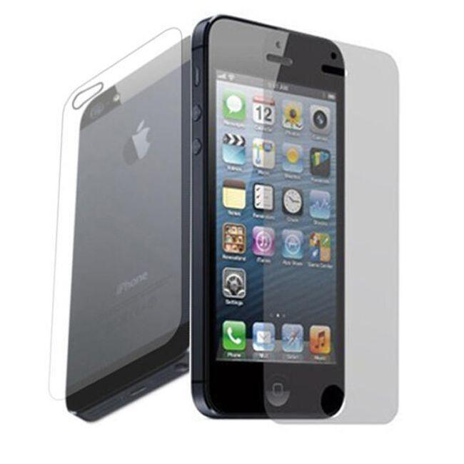 Transparentní ochranná folie na iPhone 5 pro přední a zadní stranu   1