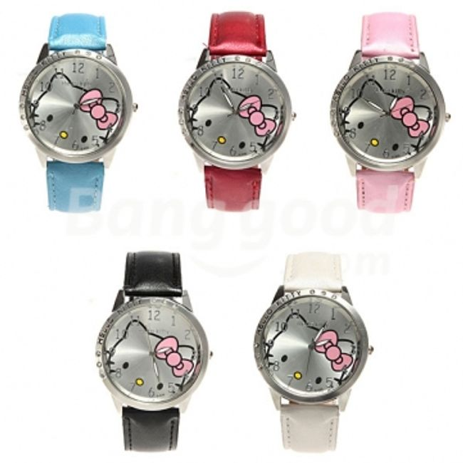 Hello Kitty zegarek - do wyboru z 5 kolorów 1