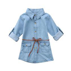 Dětské džínové šaty