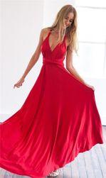 Plesové šaty s překřížením na zádech - 10 barev
