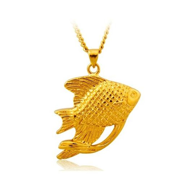 Náhrdelník s rybkou ve zlaté barvě 1