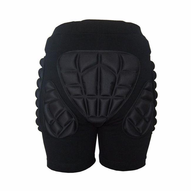 Polstrované šortky na zimní sporty - černá barva 1
