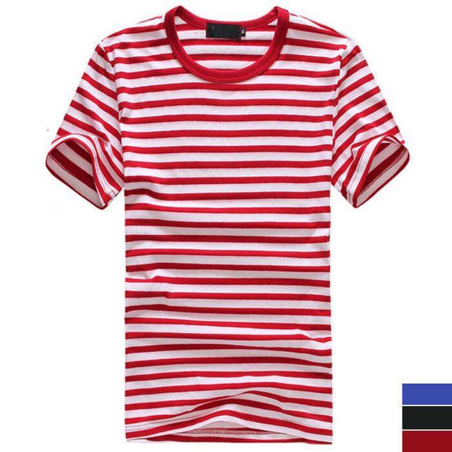 Pánské pruhované tričko - 3 barvy 1