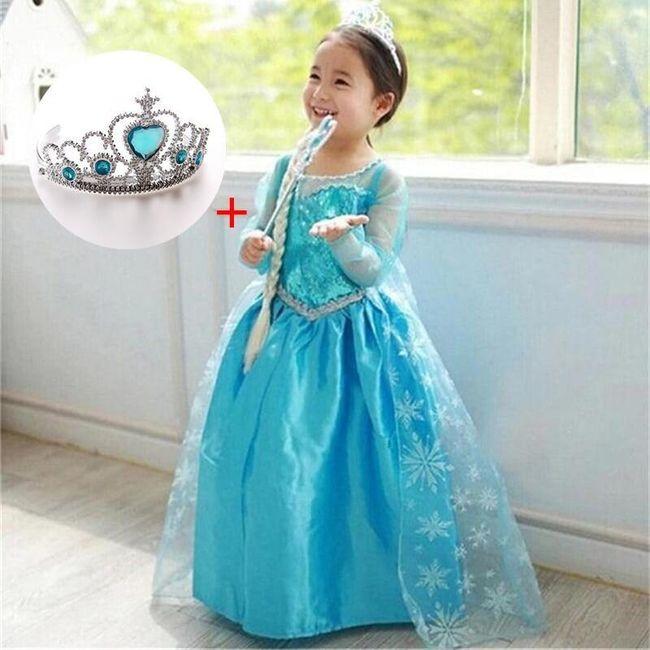 Sukienka dla lalki Elsa 1