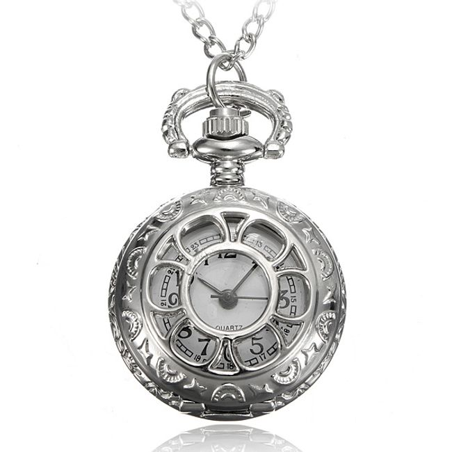 Řetízkové hodinky s motivem květiny 1