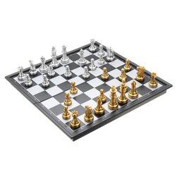 Magnetni šah u zlatno-srebrnoj boji