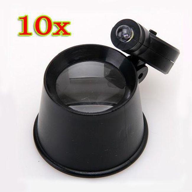 Lupa zegarmistrzowska 10x z LED oświetleniem 1