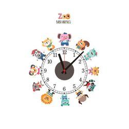 Naścienny zegar naklejany B02327