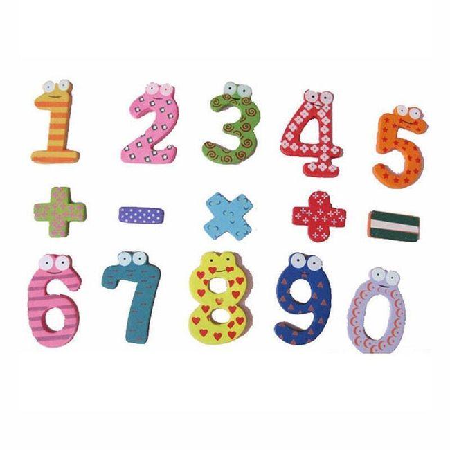 Leseni magneti s številkami za otroke 1