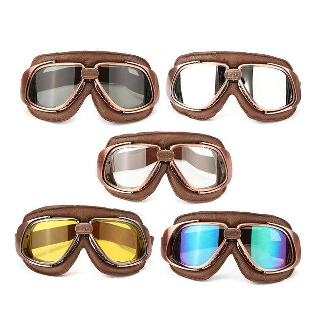 Motoristična očala z različnimi barvami stekel 1