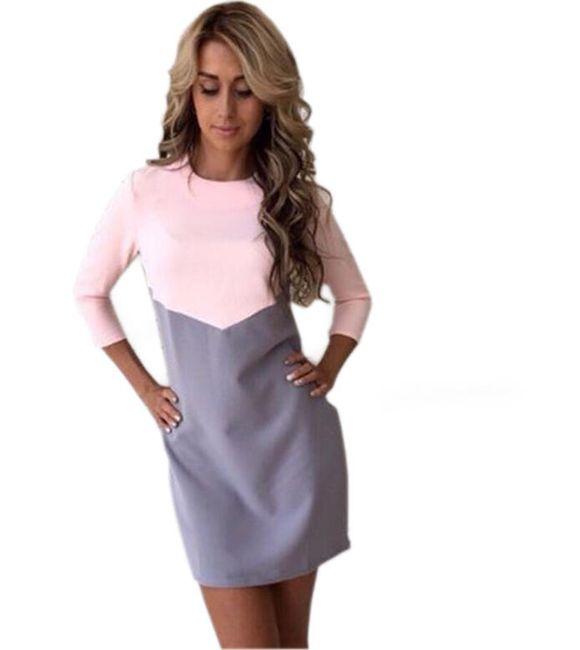 Elegantní šaty s geometrickým vzorem 1