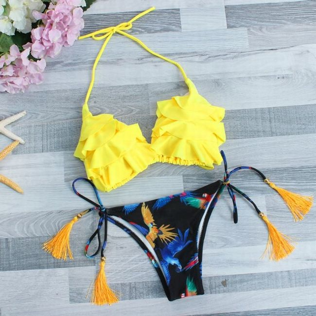 Dvoubarevné sexy plavky - 2_velikost č. 3 1