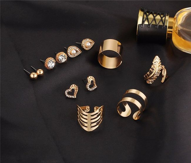 Set náušnic a prstýnků 1