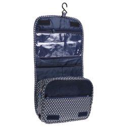 Sklopiva viseća kozmetička torba u plavoj boji
