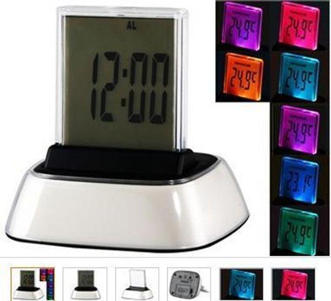 LED budík s dotykovým LCD displejem a 7 druhy barevného podsvícení 1
