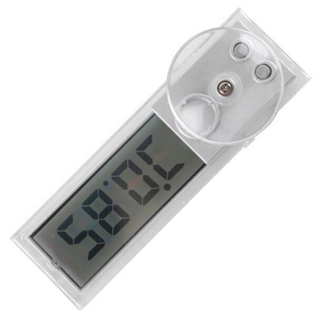 Termometr samochodowy z zegarem i przyssawką 1