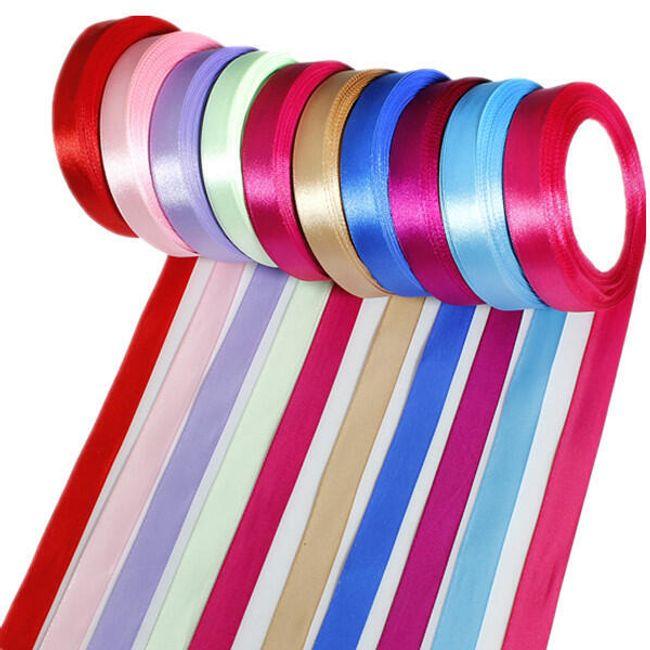 Saténová mašle, 23 m - 8 barev 1