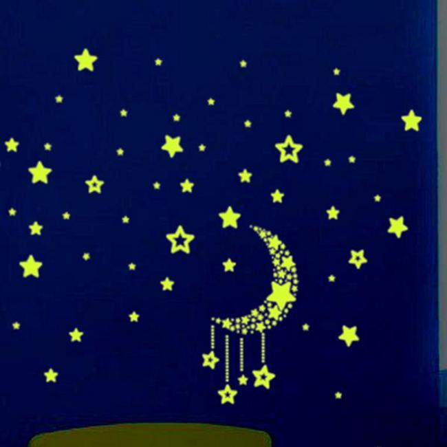 Duvar çıkartması - ışıklı gece gökyüzü 1