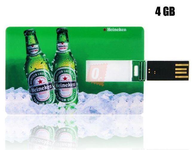 4GB Flashdisk - Heineken karta 1