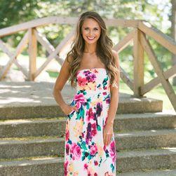 Женское платье без бретелей Courtney