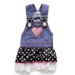 Ubranko dla pieska ze spódnicą w kropki