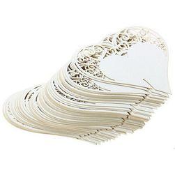 Dekoracje ślubne na szklaneczki - serca - 50 sztuk