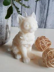 Svíčka kočka bílá