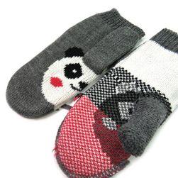 Rukavice s pandou - palčáky