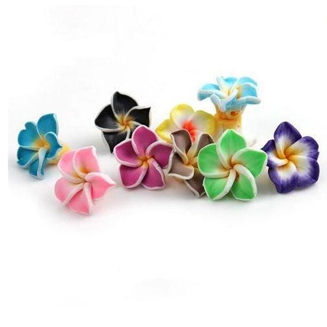 Polimer fülbevaló virágok formában - 50 db 1