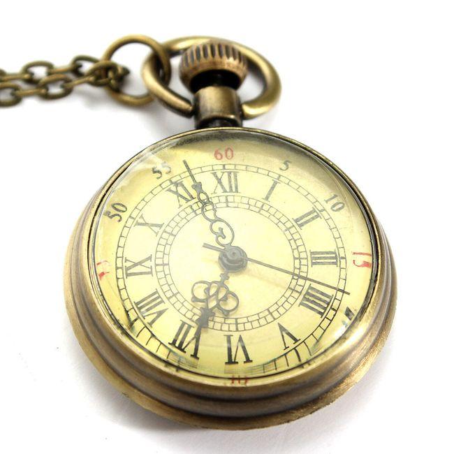 Retro žepna ura v zlati barvi 1