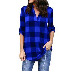 Damska koszula w kratę - 8 rozmiarów, 5 kolorów