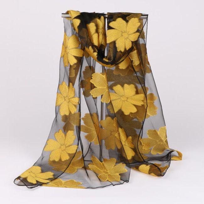 Világos sál virággal vagy szirmokkal - 20 változat