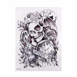 Privremena tetovaža sa lobanjom