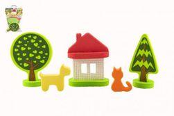 Nalepke Koča ob gozdu 10 kosov v vrečki 14x19cm RM_36052647