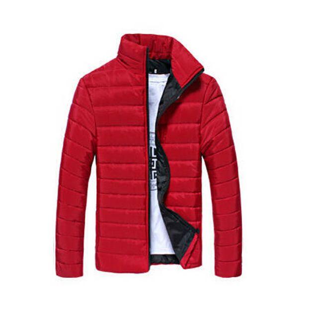 Pánská prošívaná bunda Gregor - Červená - velikost č. L 1