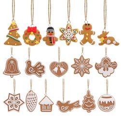 Коледни украси в дизайн на курабийки - 17 бройки
