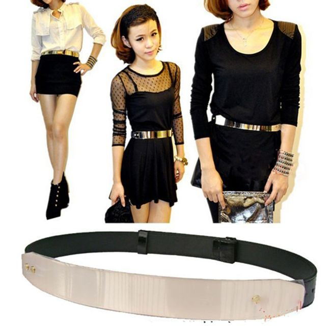 Dámský kovový pásek na šaty 1