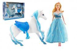 """Kôň česacia + bábika Ľadová princezná plast v krabici 46x33x9cm """" RM_00850393"""