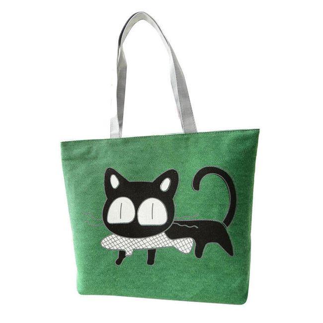 Taška přes rameno s černou kočkou 1