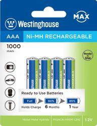 Ni-MH újratölthető akkumulátor MAX AAA NiMH 1000mAh 1.2V, buborékfólia 4db PD_1124031