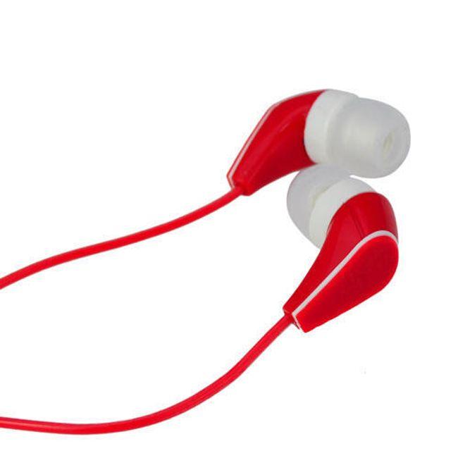 Stereo sluchátka 3,5mm - špunty, červené 1