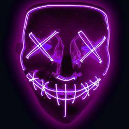Straszna świecąca maska LED - 7 kolorów