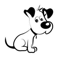 Samolepka na auto - kreslený pes