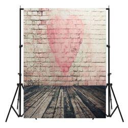 Decor foto cu motiv perete de cărămidă cu inimă