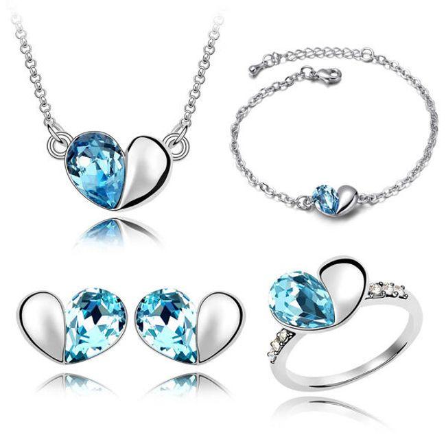 Sada šperků s detailem srdcí - 3 barvy 1