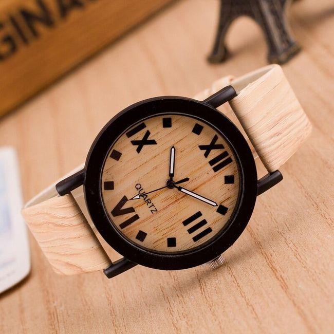 Hodinky v dřevěném designu 1