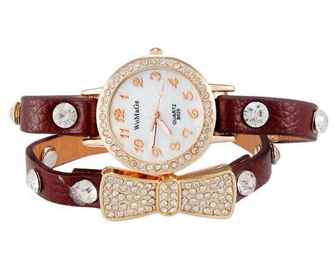 Dámské analogové hodinky s dvojitým remínkem 1