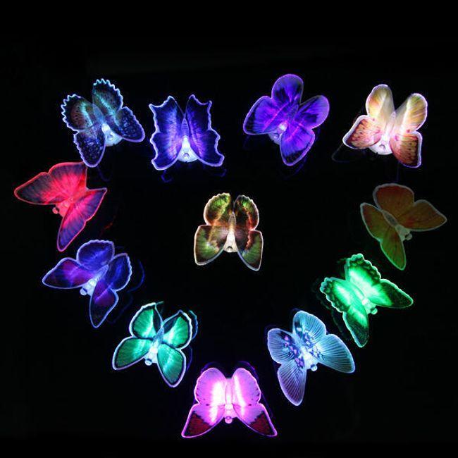 LED leptiri u sjajnoj boji u 7 nijansi 1
